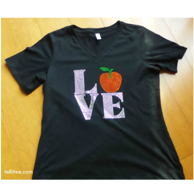 Luv Teacher Bling Tee