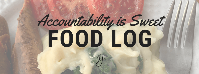 Accountability is Sweet Food Log Header