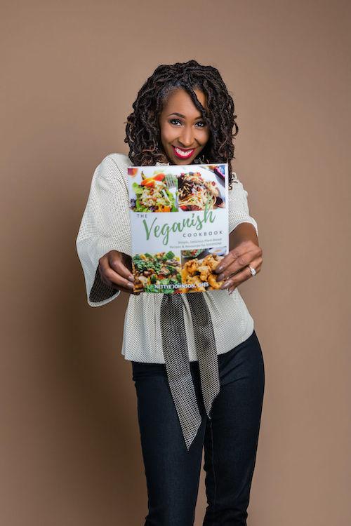 Nettye Johnson with the Veganish Cookbook